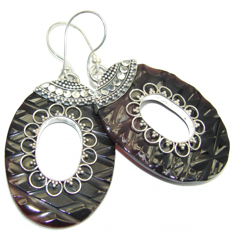 Beauty Diving Abalone Sterling Silver earrings
