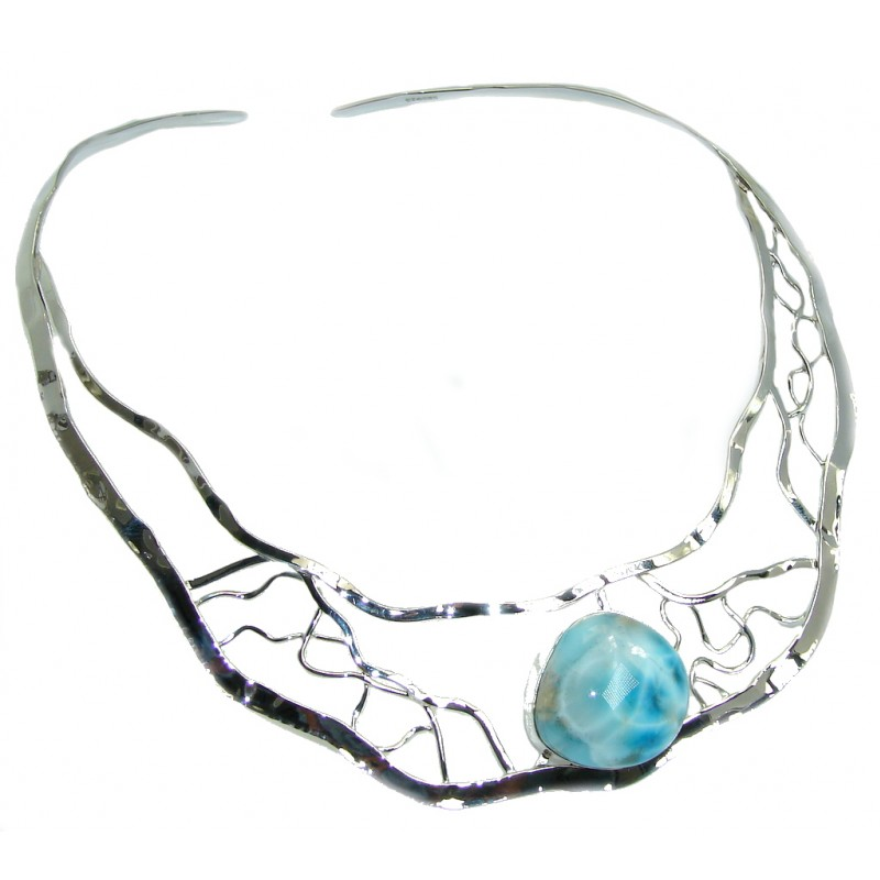 Love Attraction AAA+ Blue Larimar Sterling Silver necklace