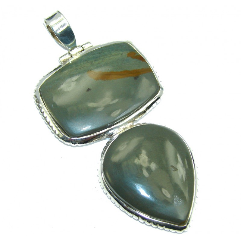 Great quality Wild Horse Jasper Sterling Silver Pendant