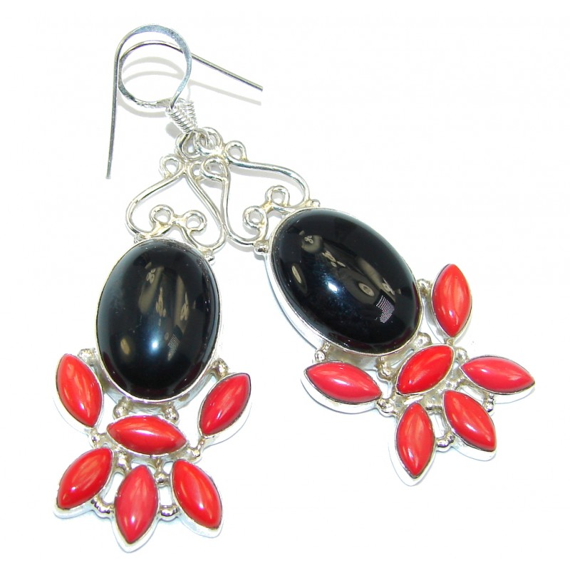 Just Perfect Aura Black Onyx Sterling Silver earrings