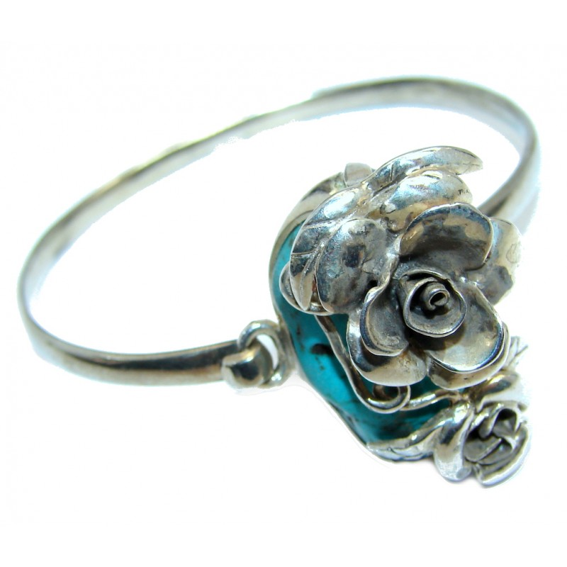 Enchanted Meadow Turquoise Sterling Silver Bracelet / Cuff