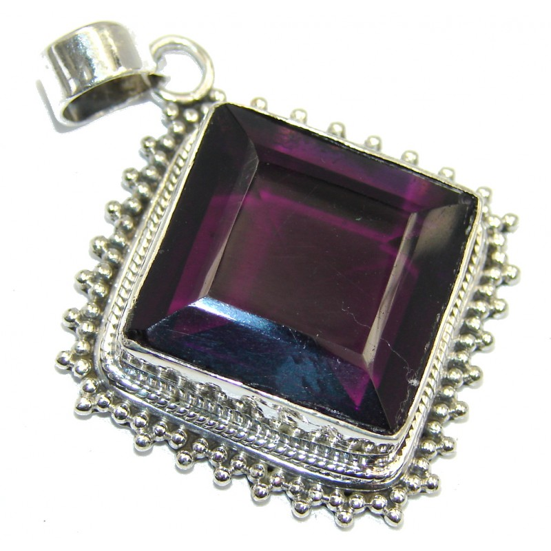 One of the kind created Purple Quartz Sterling Silver Pendant