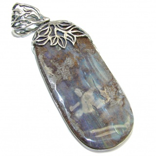 Beautiful Natural Australian Boulder Opal Sterling Silver Pendant