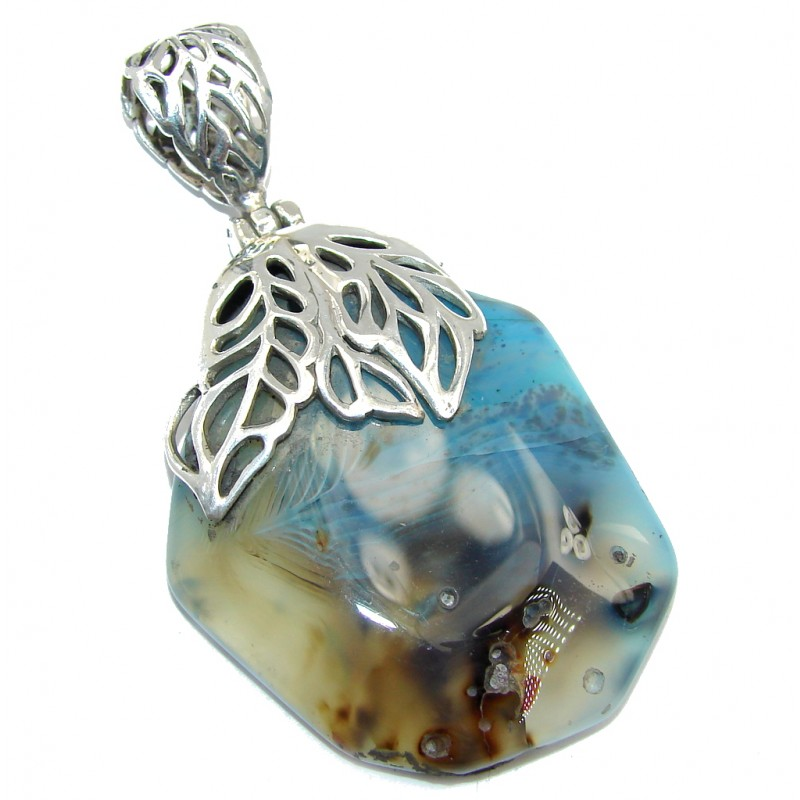Perfect Dendritic Agate Sterling Silver Pendant