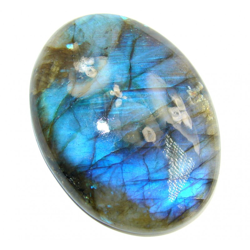 Big Natural AAA Fire Blue Labradorite 103 ct Stone