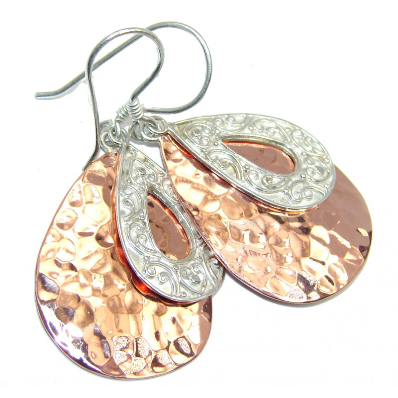 Indonesian Dream Two Tones Copper over Sterling Silver Earrings