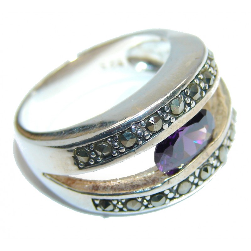 Amazing Amethyst Sterling Silver Ring size 7 1/2