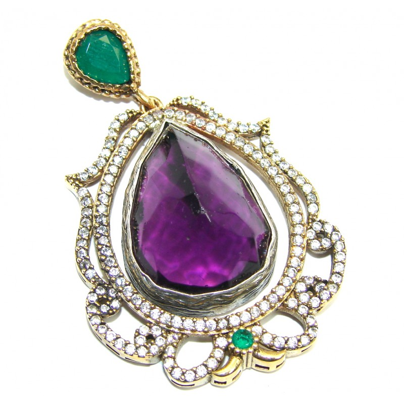 Awesome Purple Alexandrite Quartz Sterling Silver Pendant