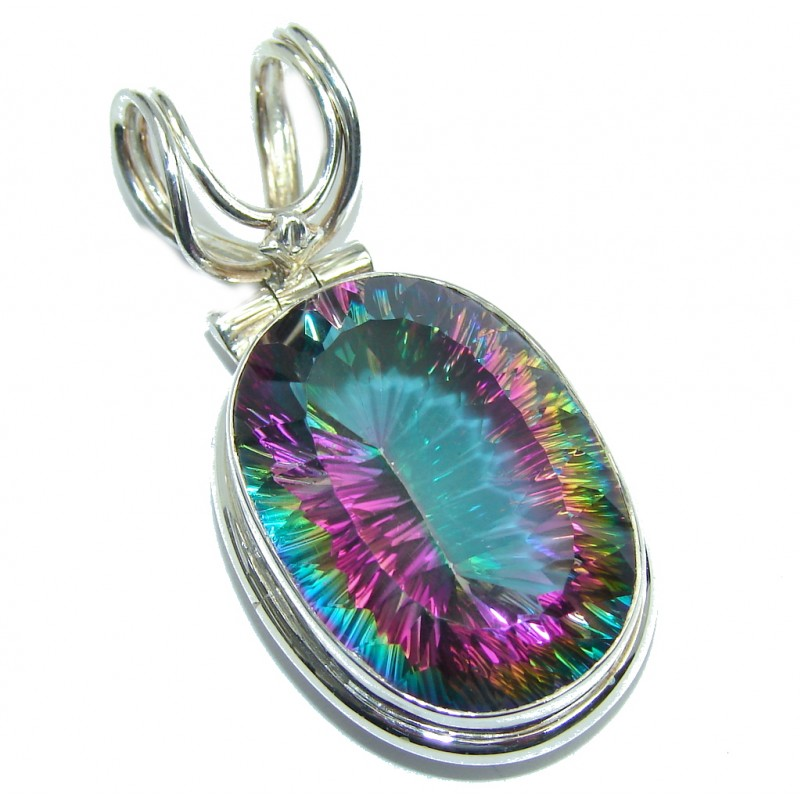 Amazing Magic Topaz Sterling Silver Bali made Pendant