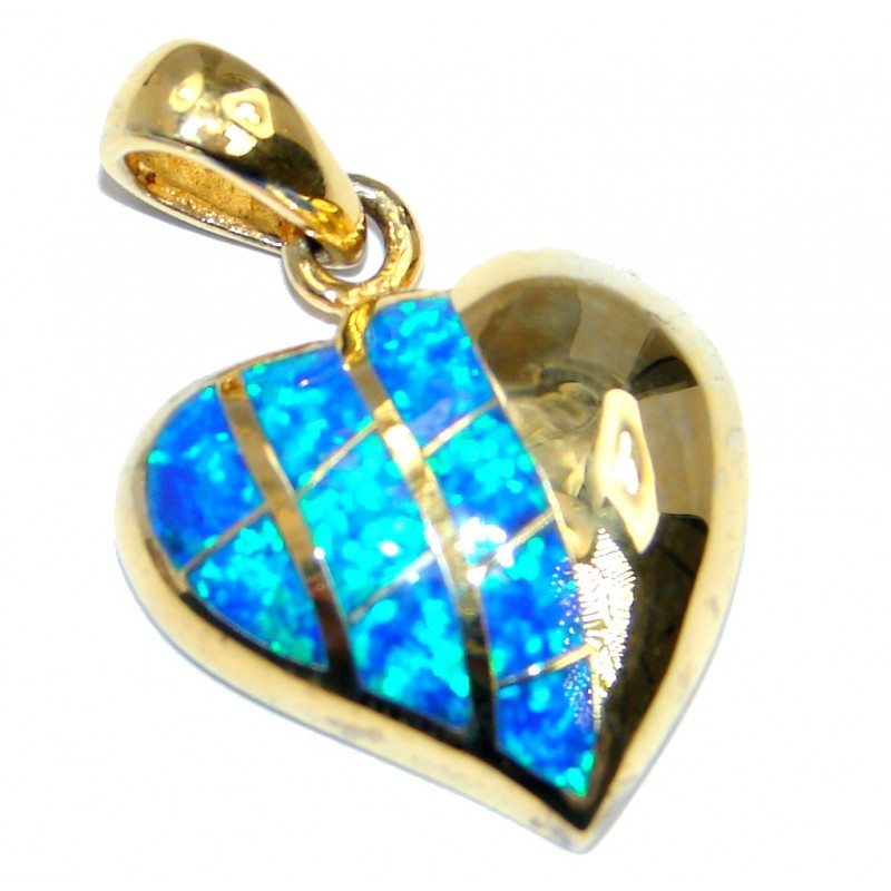 AAA Japanese Fire Opal Gold plated over Sterling Silver Pendant