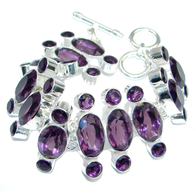 Great Style created Amethyst Sterling Silver Bracelet