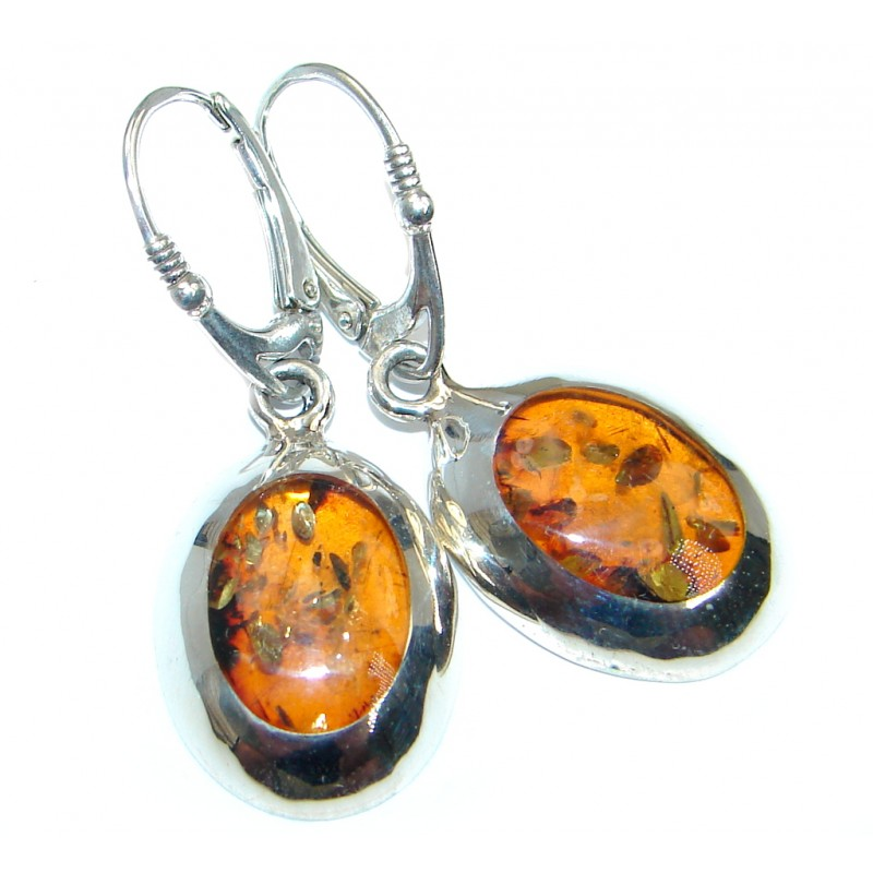 Classy Baltic Amber Sterling Silver earrings