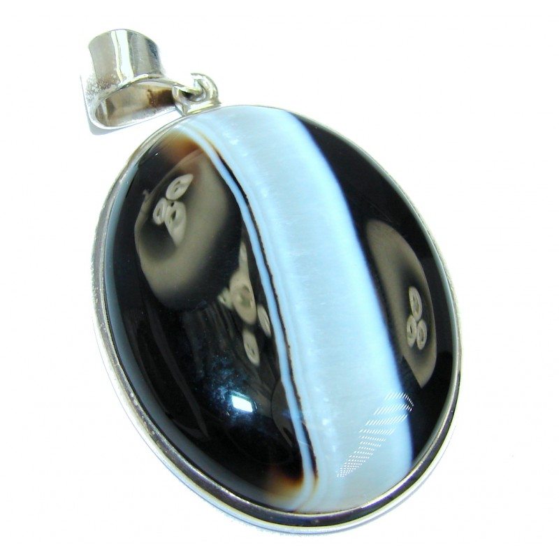Perfect Botswana Agate Sterling Silver handmade Pendant