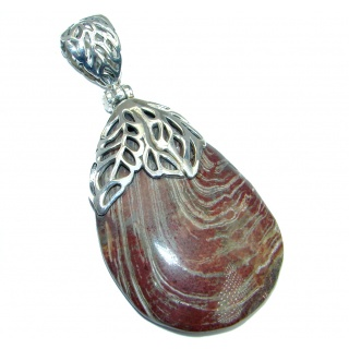 Incredible Red Lace Jasper Sterling Silver handmade Pendant