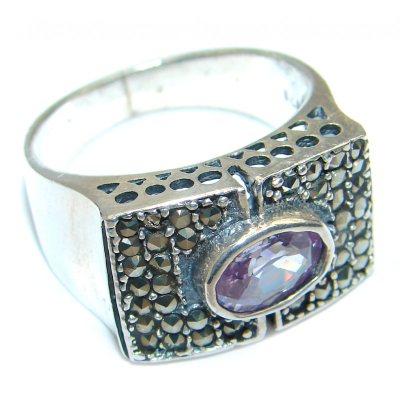 Amazing Cubic Zirconia Sterling Silver ring size 8
