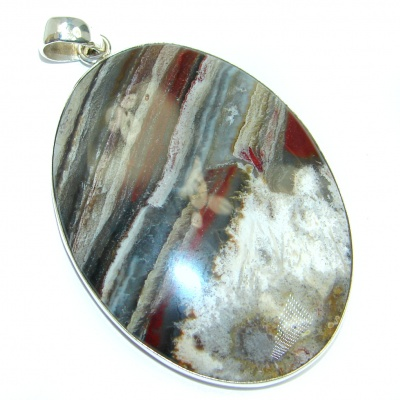 Perfect Lace Agate Sterling Silver handmade Pendant