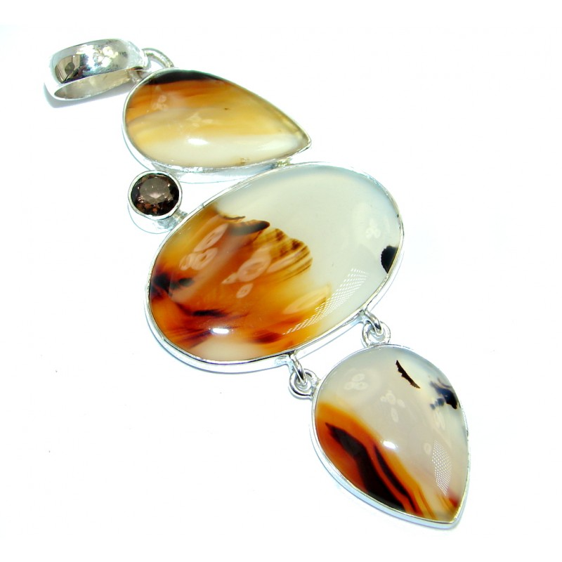 Montana Scentic Montana Agate Sterling Silver handamde Pendant