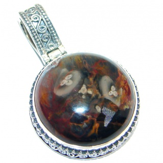 Genuine Golden Pietersite Sterling Silver handmade pendant