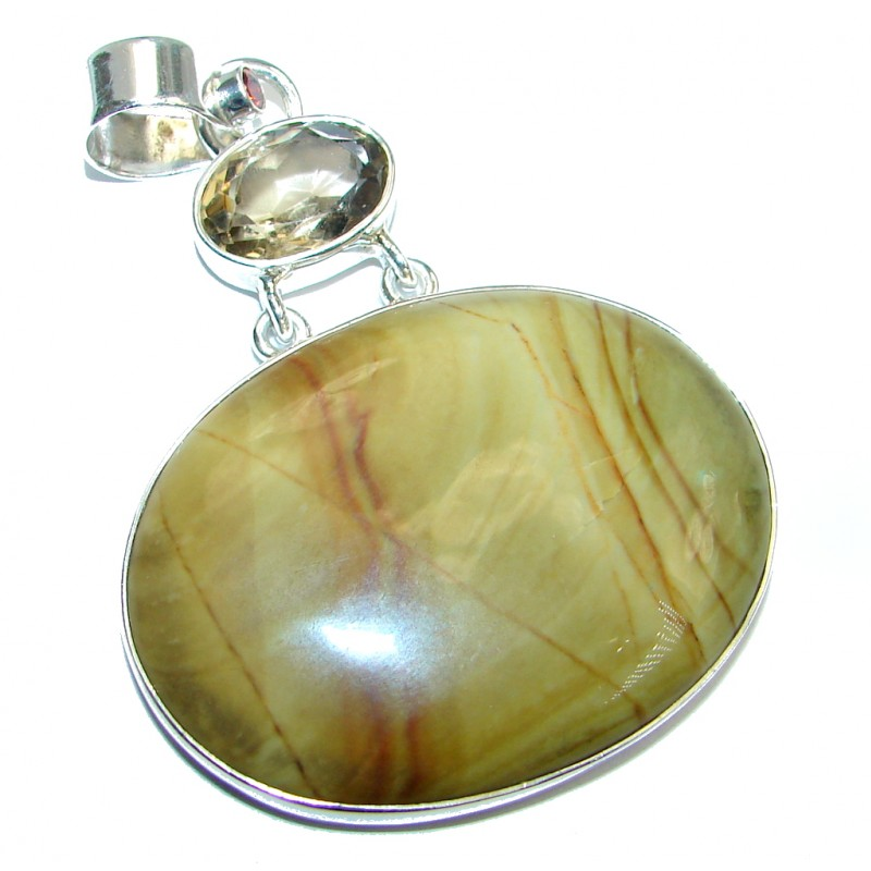 Stunning Wild Horse Jasper Sterling Silver handcrafted Pendant
