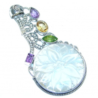 Passion Blister Pearl & Amethyst Sterling Silver Pendant