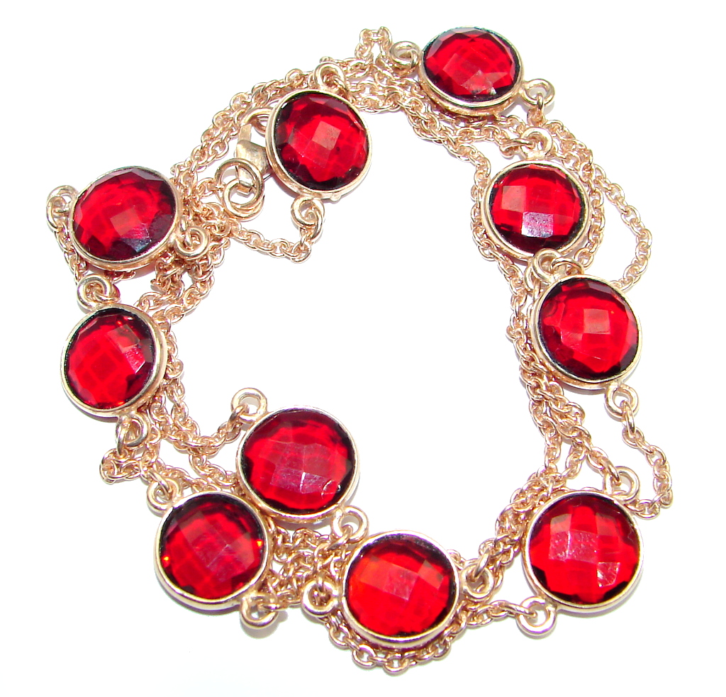 Discount Filters Coupon >> 36 inches simulated Garnet Gold plated over Sterling Silver Necklace - 17.50g | $50.95 best ...