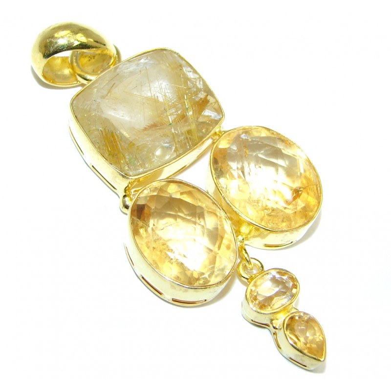 Himalayan treasure golden rutilated quartz gold plated for Golden rutilated quartz jewelry