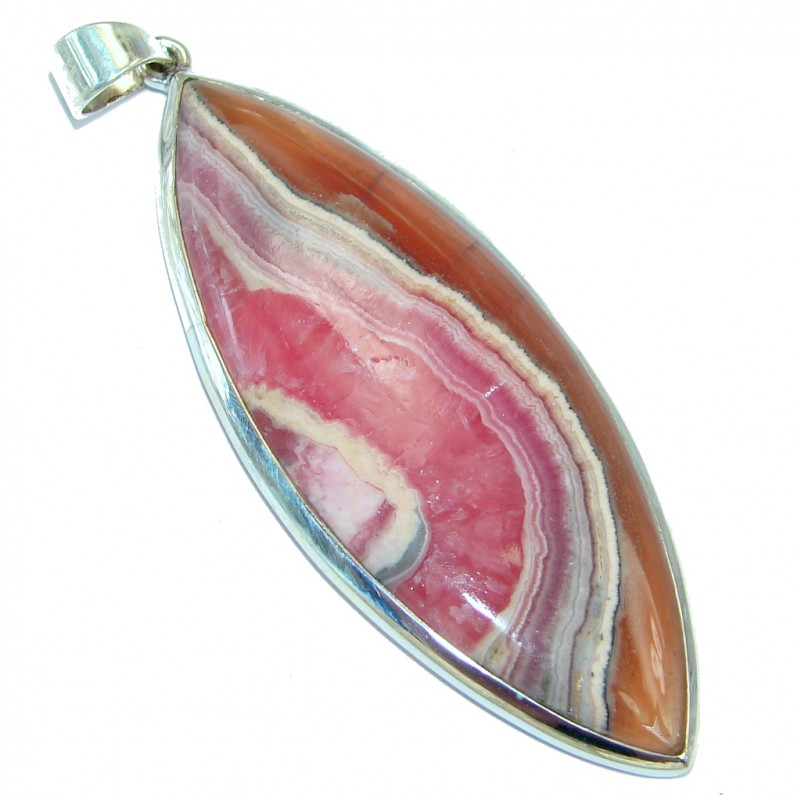 AAA quality Argentinian Rhodochrosite Sterling Silver handmade Pendant