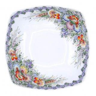 Entirely Hand painted Porcelain Cereal/Soup Bowl