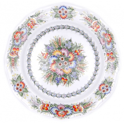 Entirely Hand painted Porcelain Dinner Plate