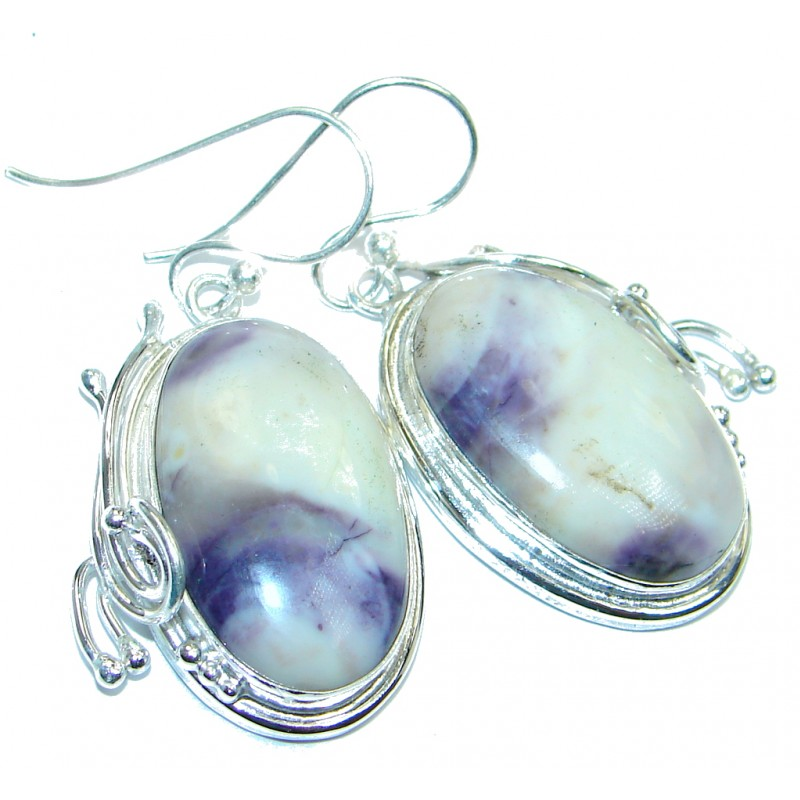 Amazing Tiffany Jasper Sterling Silver Earrings / Long