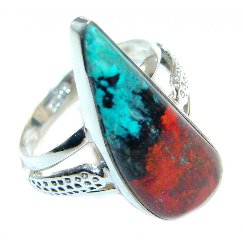 Perfect Sonora Jasper Sterling Silver Ring size 11 1/2