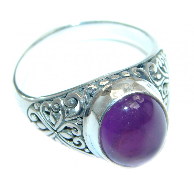 Amazing Amethyst Sterling Silver Ring size 10