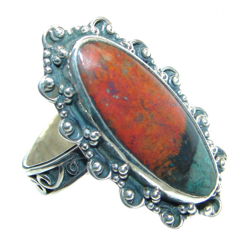Perfect quality Sonora Jasper Sterling Silver Ring size 7 1/4