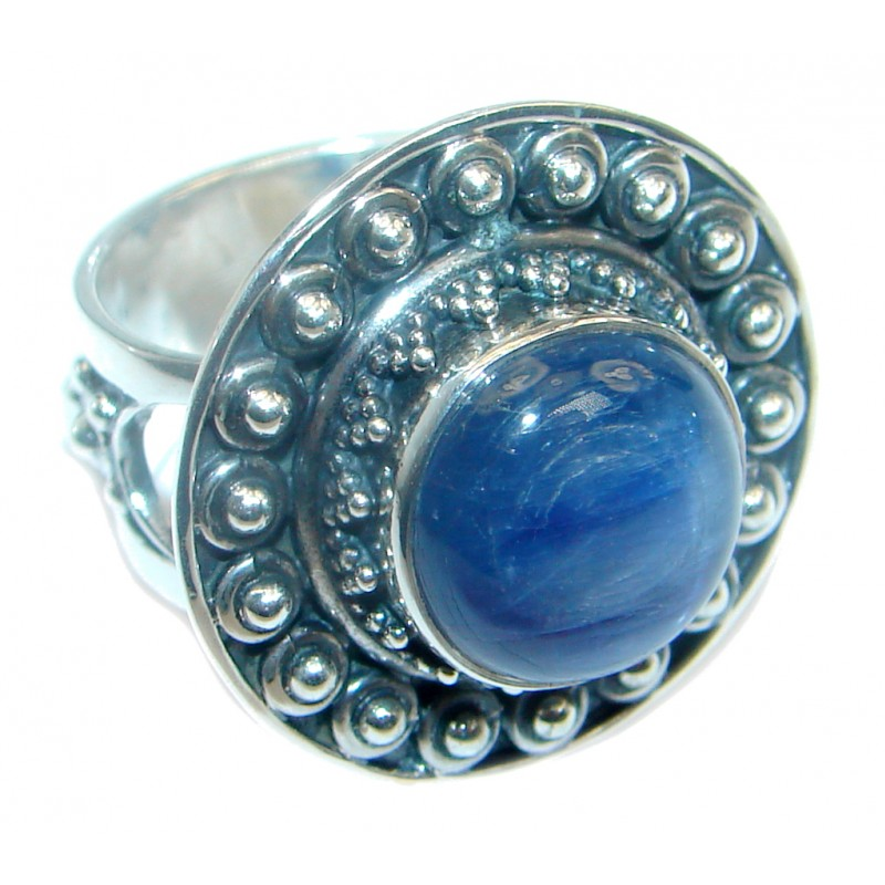 Awesome Kyanite Sterling Silver Ring size adjustable