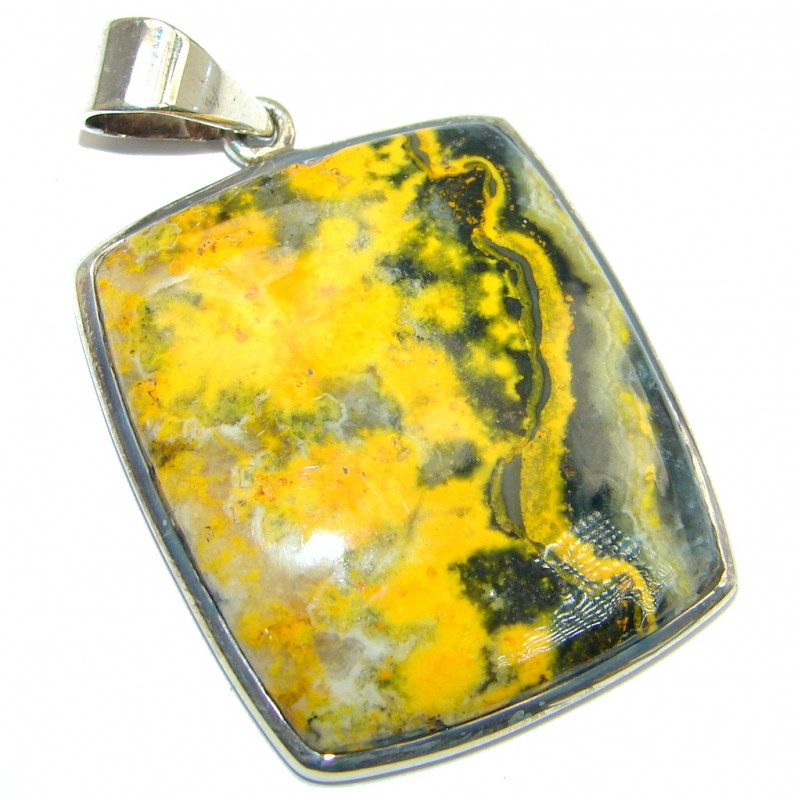 Collected Storm AAA Bumble Bee Jasper Sterling Silver handcrafted Pendant