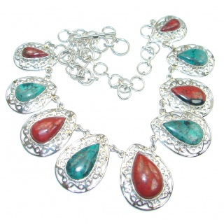Sublime AAA quality Sonora Jasper Sterling Silver handmade Necklace