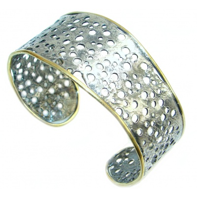 Artisian Design Two Tones handcrafted Sterling Silver Italy made Bracelet