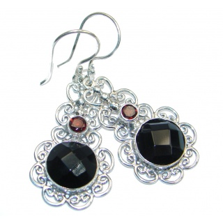 Perfect Aura Black Onyx Sterling Silver earrings