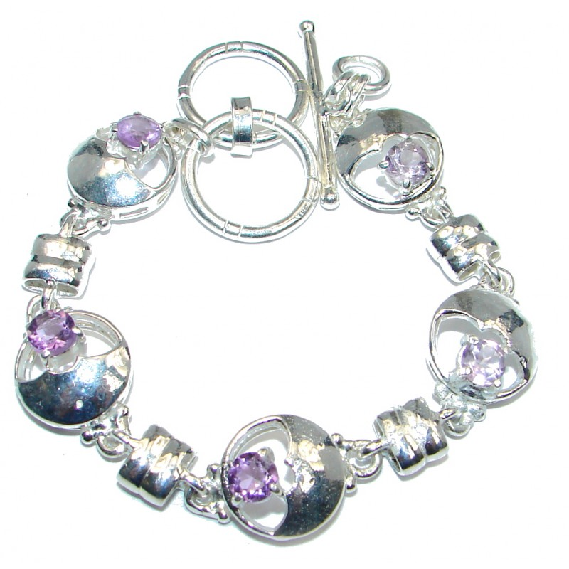 Secret Beauty Amethyst Silver Tone Bracelet