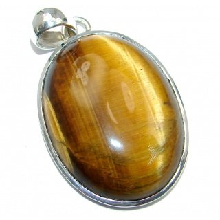 Awesome Golden Tigers Eye Sterling Silver handmade Pendant