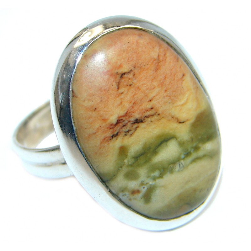 Genuine Morrisonite Sterling Silver handcrafted Ring size 10 1/4
