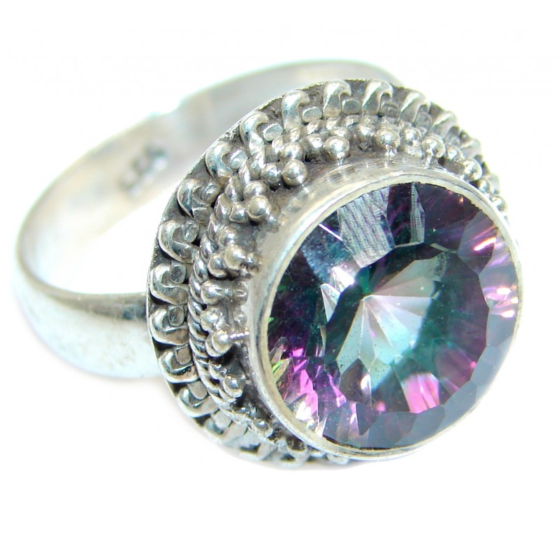 Amazing Rainbow Topaz Sterling Silver ring size 8 1/2