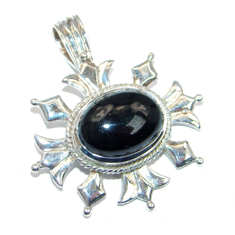 Rare Onyx Sterling Silver handmade Pendant