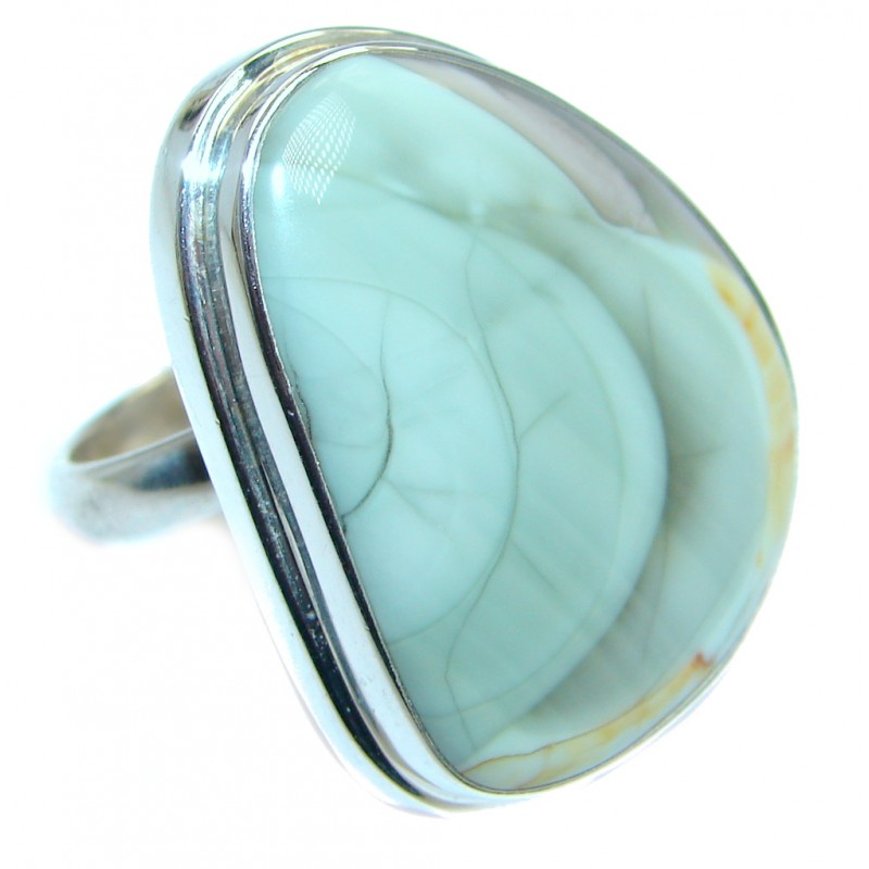 Large Sublime Imperial Jasper Sterling Silver ring size adjustable