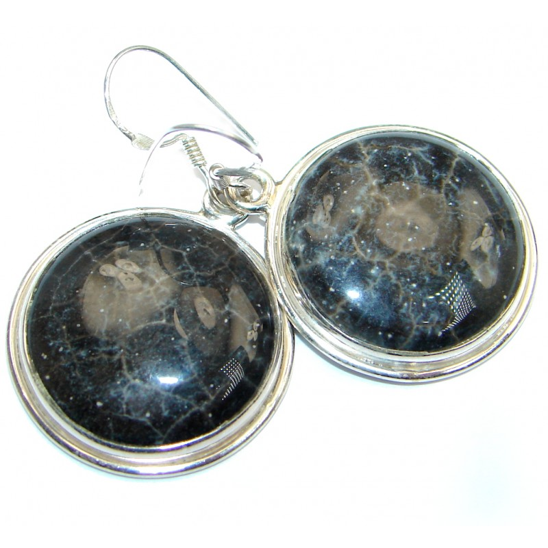 Jasper Sterling Silver hancrafted earrings