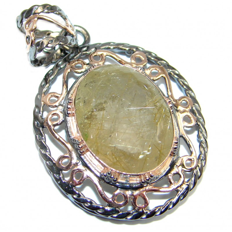 Himalayan treasure golden rutilated quartz rose gold for Golden rutilated quartz jewelry