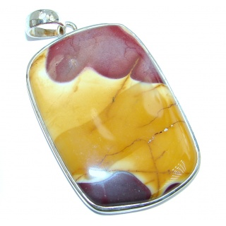 Large Fancy Mookaite Sterling Silver handmade Pendant