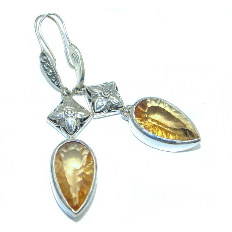 Amazing Yellow Topaz Sterling Silver handmade Earrings