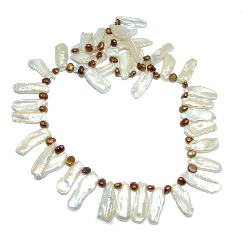 51 grams Rare Unusual Natural Mother of Pearl Beads Strand