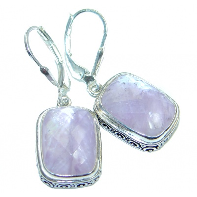 Faceted Pink Amethyst Sterling Silver earrings